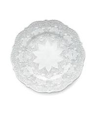 Arte Italica Merletto White Dessert Plates Set of 4