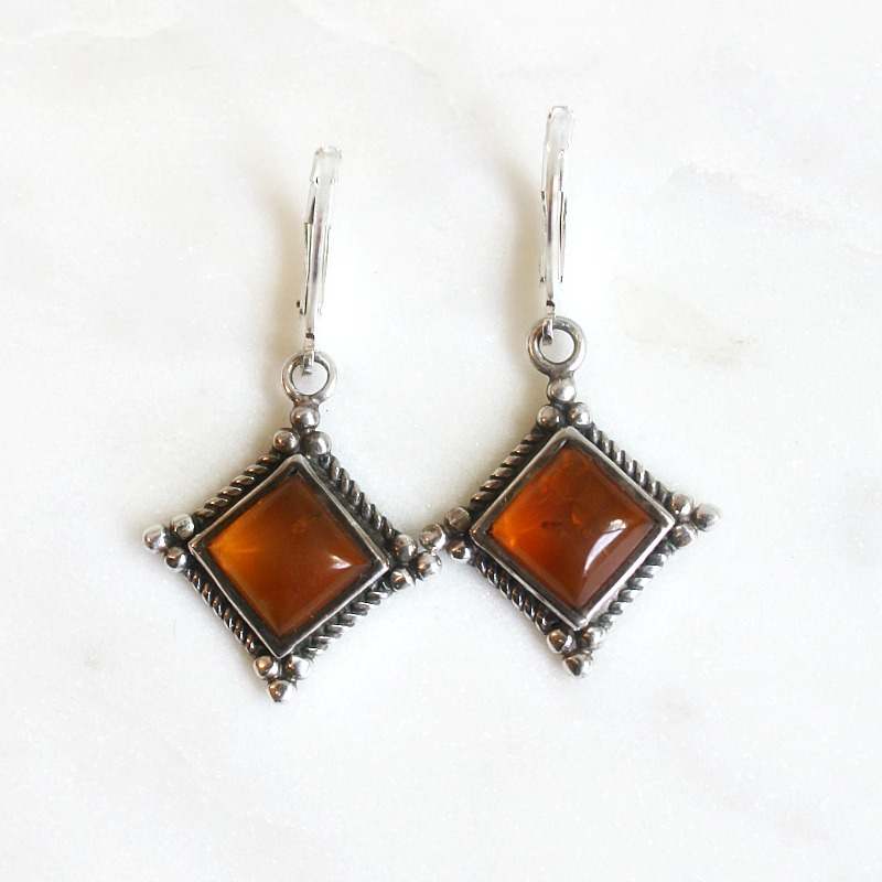 Baltic Amber Sterling Earrings