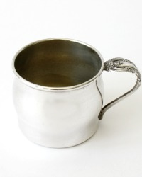 Vintage Silver Plate Baby Cup Artistry