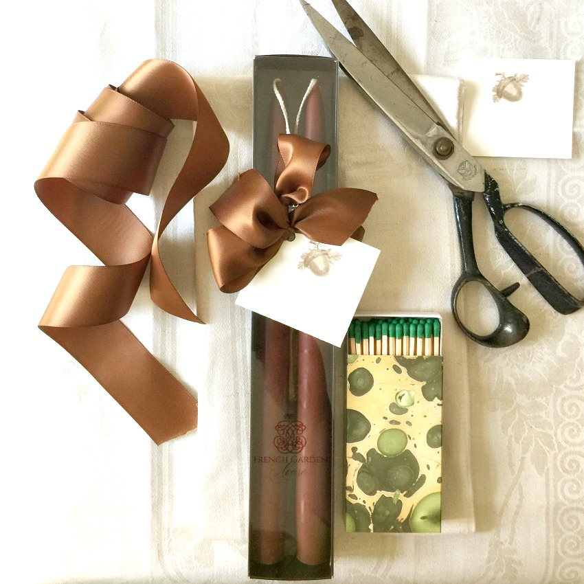 Hand Dipped Taper Candles Gift Set Le Marron