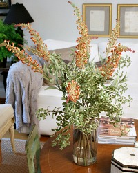 Faux Autumn Butterfly Bush Spray Bundle