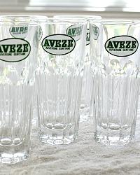 Vintage French Advertising Aveze Gentiane Glasses Set of 6