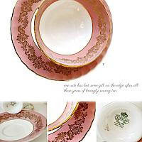 Vintage Aynsley Rose Pink and Gilt Tea Cup