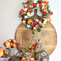 French Country Wreath Bright Citrus Colors