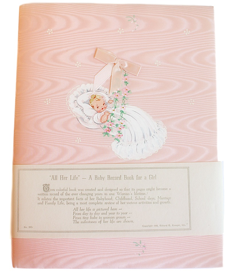 Vintage 1940's Pink Keepsake Baby Album Unused