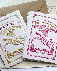 Circus Girl Letterpress Ephemera Card Set
