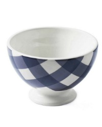 French Country Checked Cafe au Lait Bowl