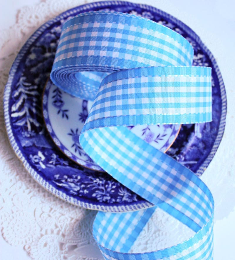 L'heure Bleue Brights Checked Ribbon