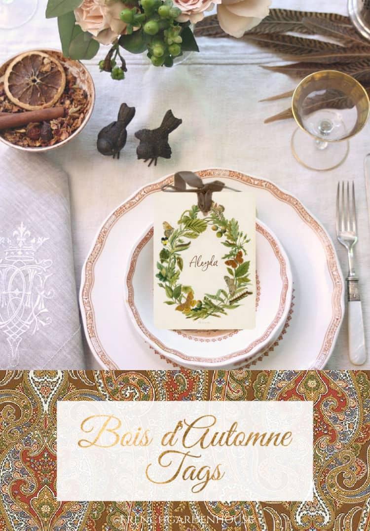 Bois d'Automne Tag Set of 8