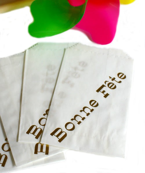 French Bonne Fete Glassine Party Favor Bags