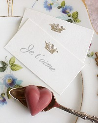 Gilded Crown Place Cards