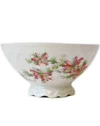 Antique Pink Floral Footed Cafe Bol