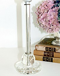Vintage Glass 1930's Candlestick Vanity Lamp