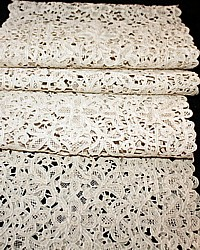 Antique Italian Needlepoint Lace Runner or Stole