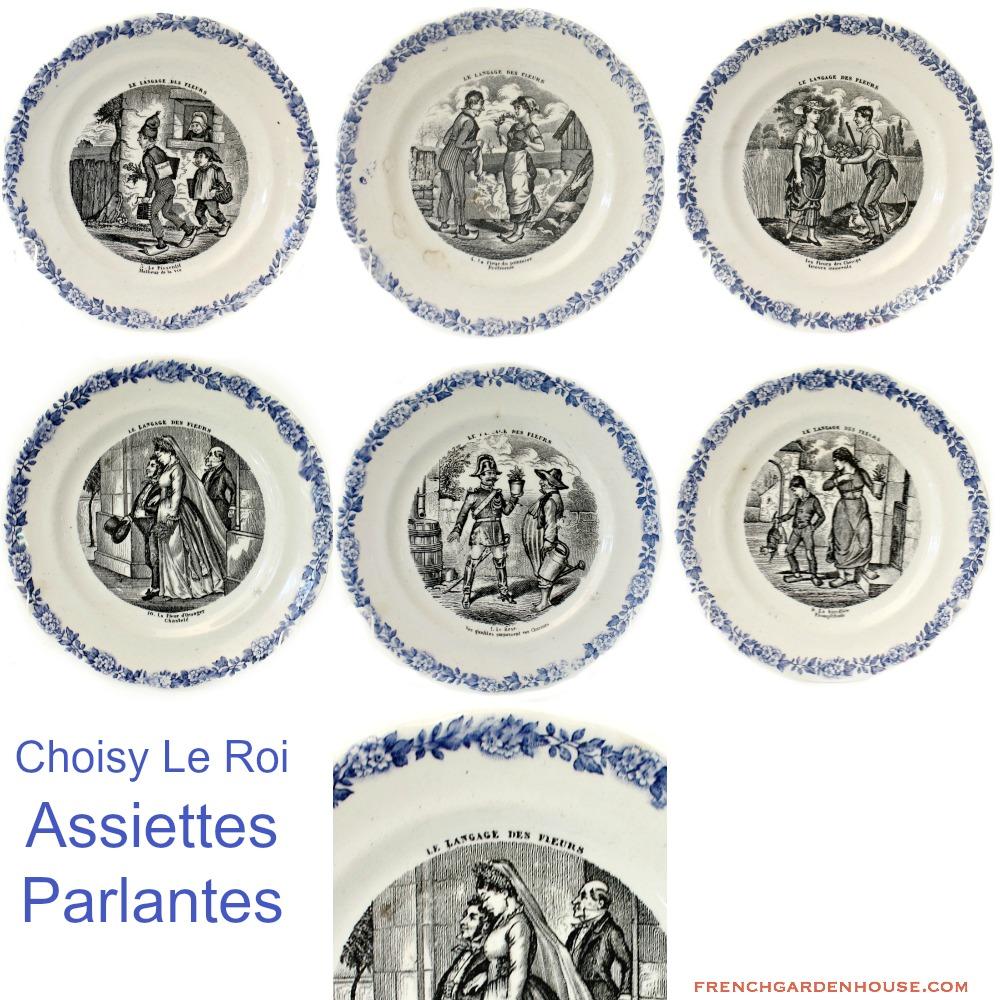 19th century french langage des fleurs faience cabinet for Langage des fleurs