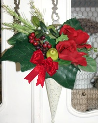 French Country Amour Floral Cone Red Rose