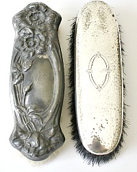 Antique Silver Plated Clothing Brushes Set of 2