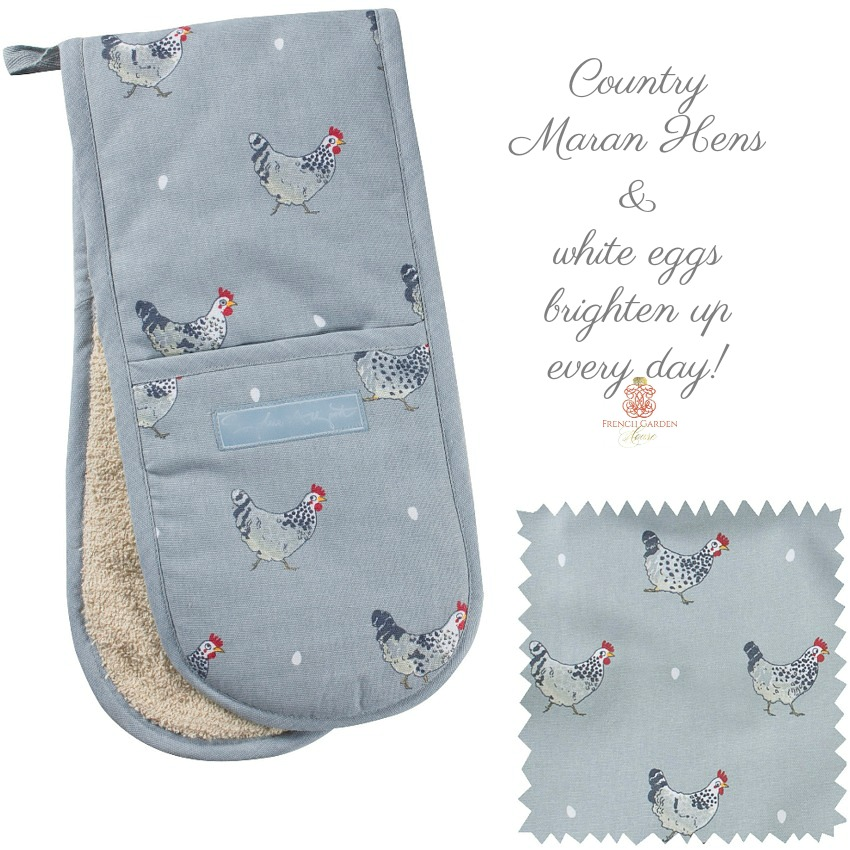Country Chickens Double Oven Glove