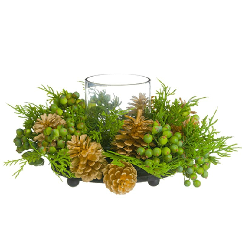 Designer Winter Hurricane Centerpiece