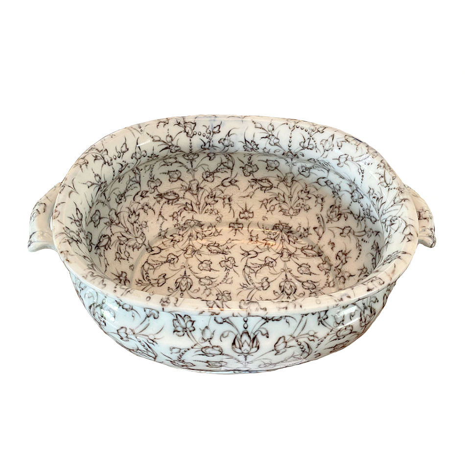 Early 19th Century English Ironstone Foot Bath by Charles Meigh