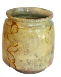 Antique French 19th Century Hand Glazed Preserving  Jar