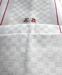 Antique Cream Oatmeal Linen Monogrammed Towel ED