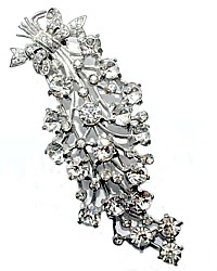 Huge 1930's Eisenberg Original Diamante Fur Clip