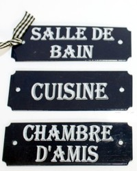 Laguiole French House Enamel Room Signs