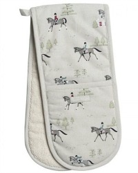 Country Equestrian Drying Double Oven Mitt