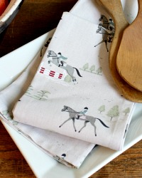 Country Equestrian Drying Towel