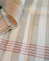 Antique French Estate Linen Tea Towel Unused Stripes