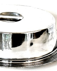 Rare 1930's American Export Luxury Ocean Liner Hotel Silver Food Cover and Tray