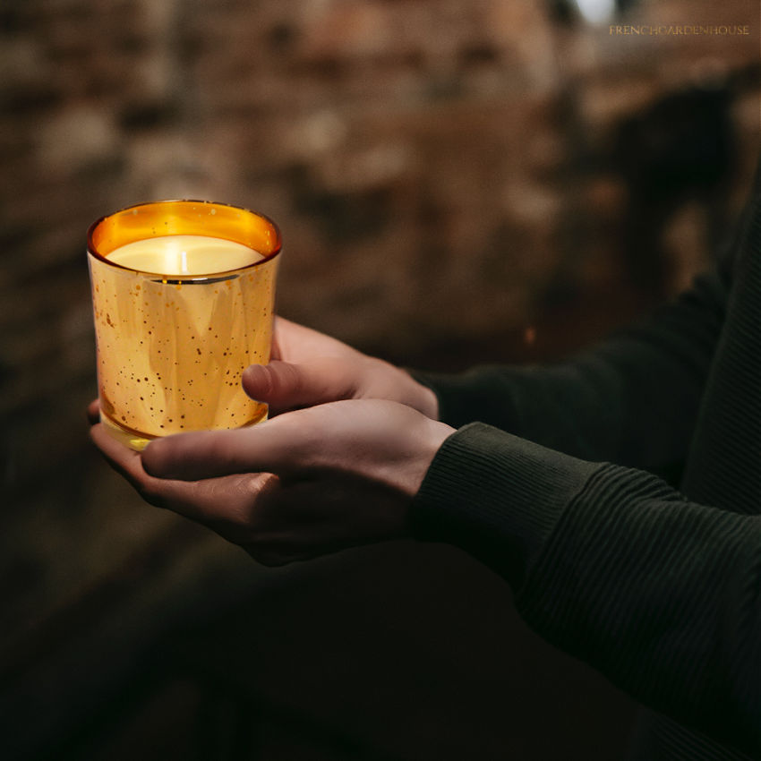 Luxury French Artisan Amber Beeswax Candle