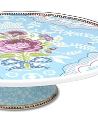Ribbon Rose Blue Cake Stand