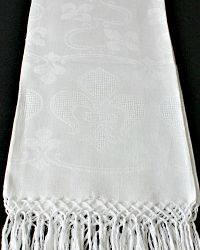 Antique French Fleur de Lis Damask Show Towel