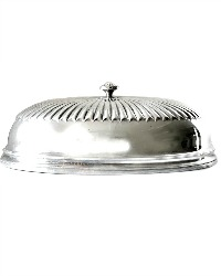 Large Antique English Silver Plate Large Food Dome Cover