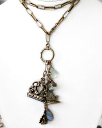 Extasia Collection Watch Fob Necklace French Bleue