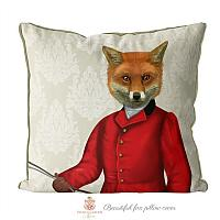 Fox Hunt Pillow Cover