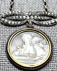 Tara Gasparian Antique French Fragonard Portrait Necklace