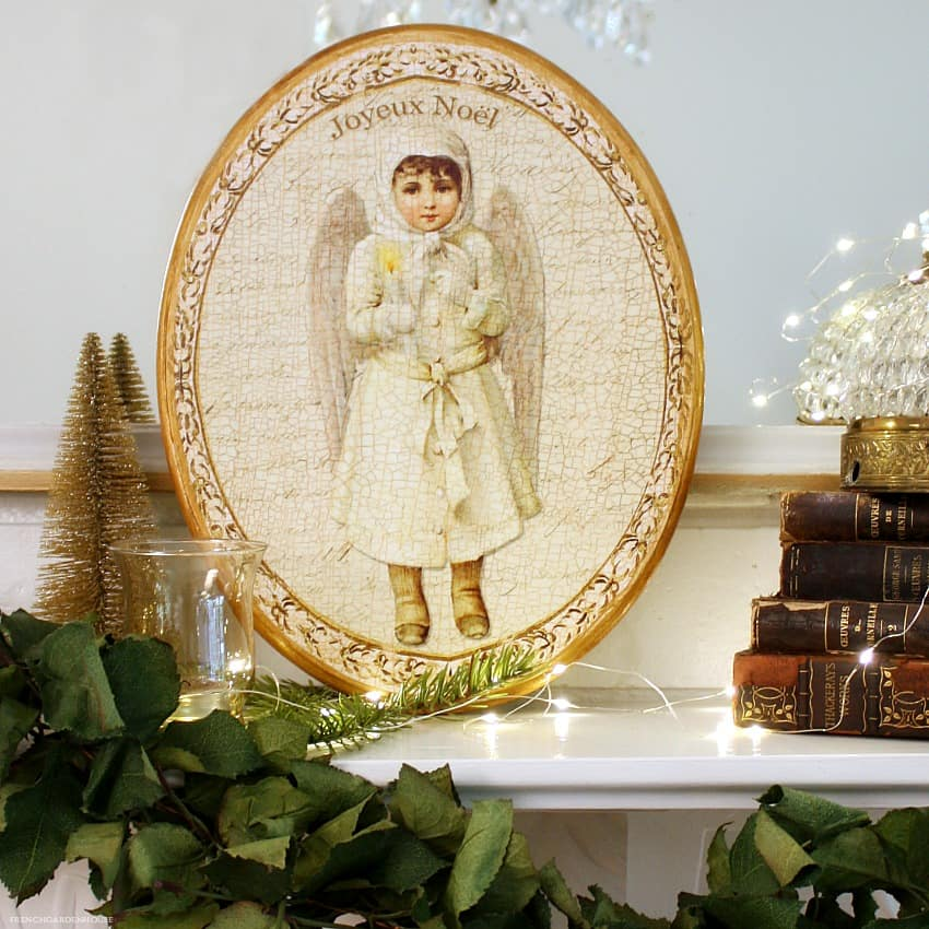 Limited Edition French Noel Angel Plaque