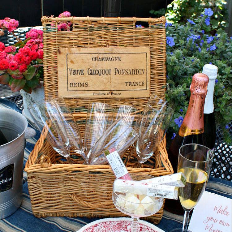 Vintage Veuve Clicquot Ponsardin Champagne Basket