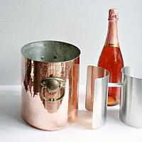 Hand Hammered Copper Oval 2 Bottle Champagne Bucket