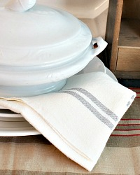 French Country Blanc Gres Linen Napkins Set Of 4