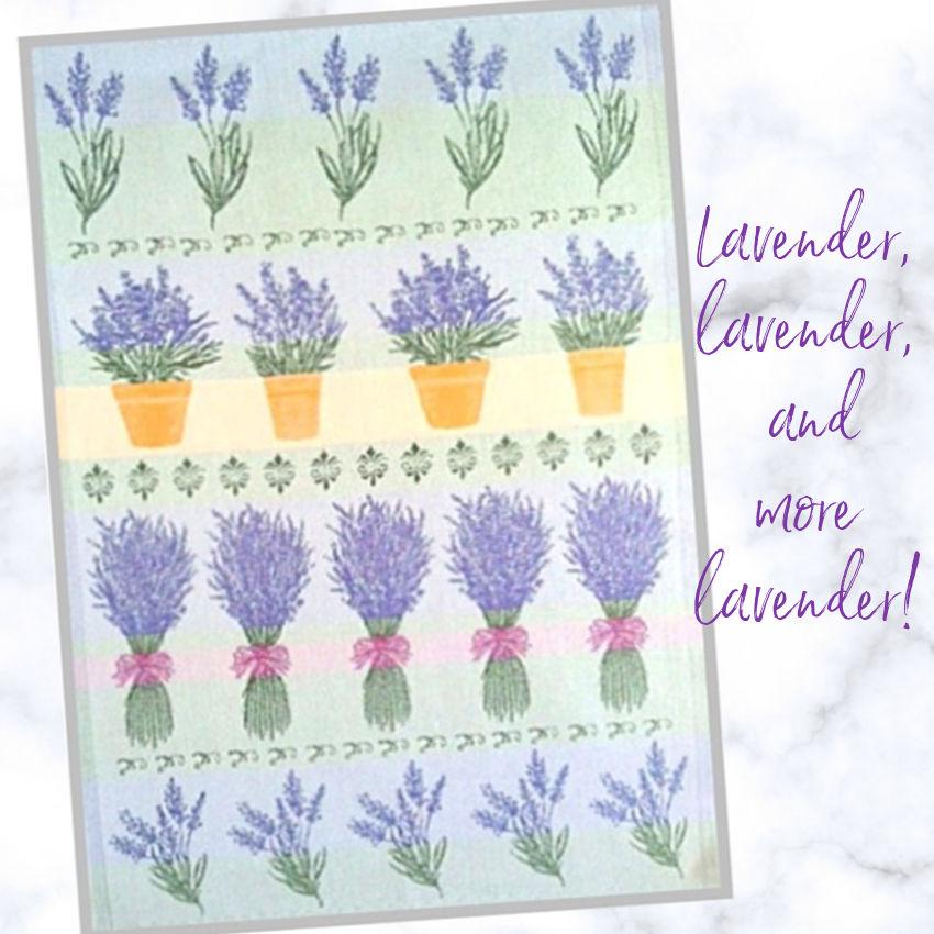 J'adore Lavender Tea Towel