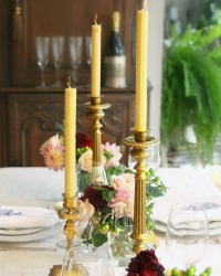 French Artisan Beeswax Candle Taper Set