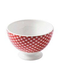 Country French Cafe au Lait Bowl Small Check
