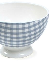 Cafe au Lait Bowl Country French Light Bleu Gingham