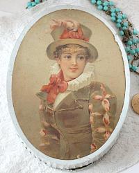 Antique French Color Lithograph Bonbon Box