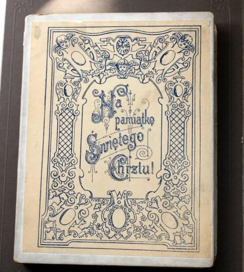 Antique Silk Wax Angel Baby Christening Gift Card