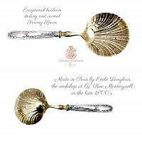19th Century French Sterling Silver Vermeil Serving Spoon